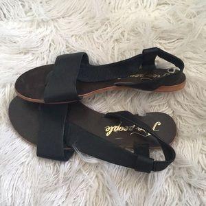 Free People black sandals 38
